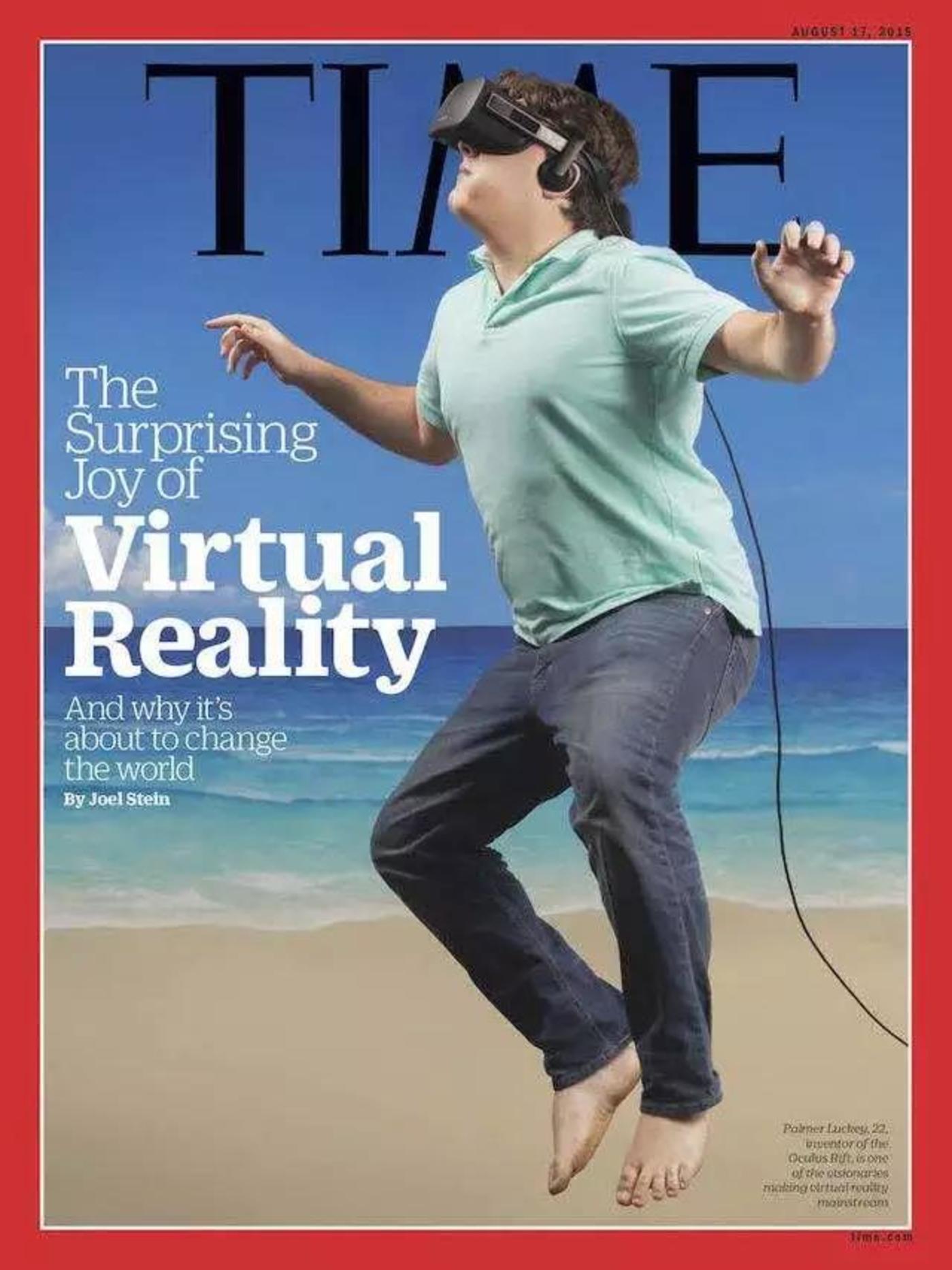 OculusVR创始人之一帕尔默·拉奇登上时代周刊封面