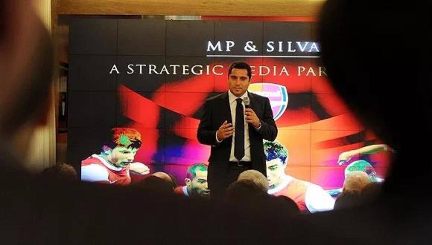 MP & Silva曾一度拥有阿森纳的媒体版权,图片来源:阿森纳官网