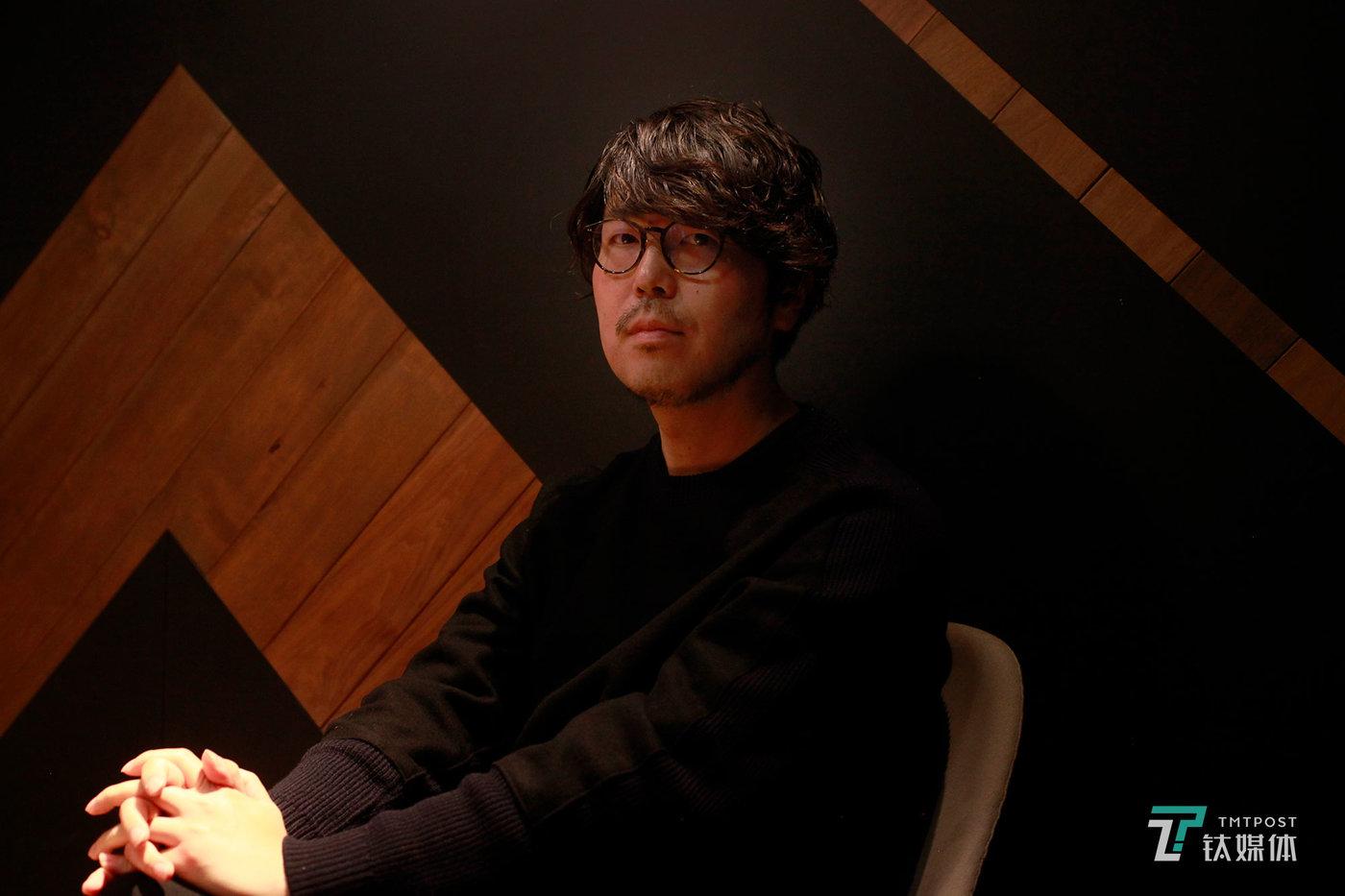 日本著名制片人、作家 川村元气,摄影:林徽