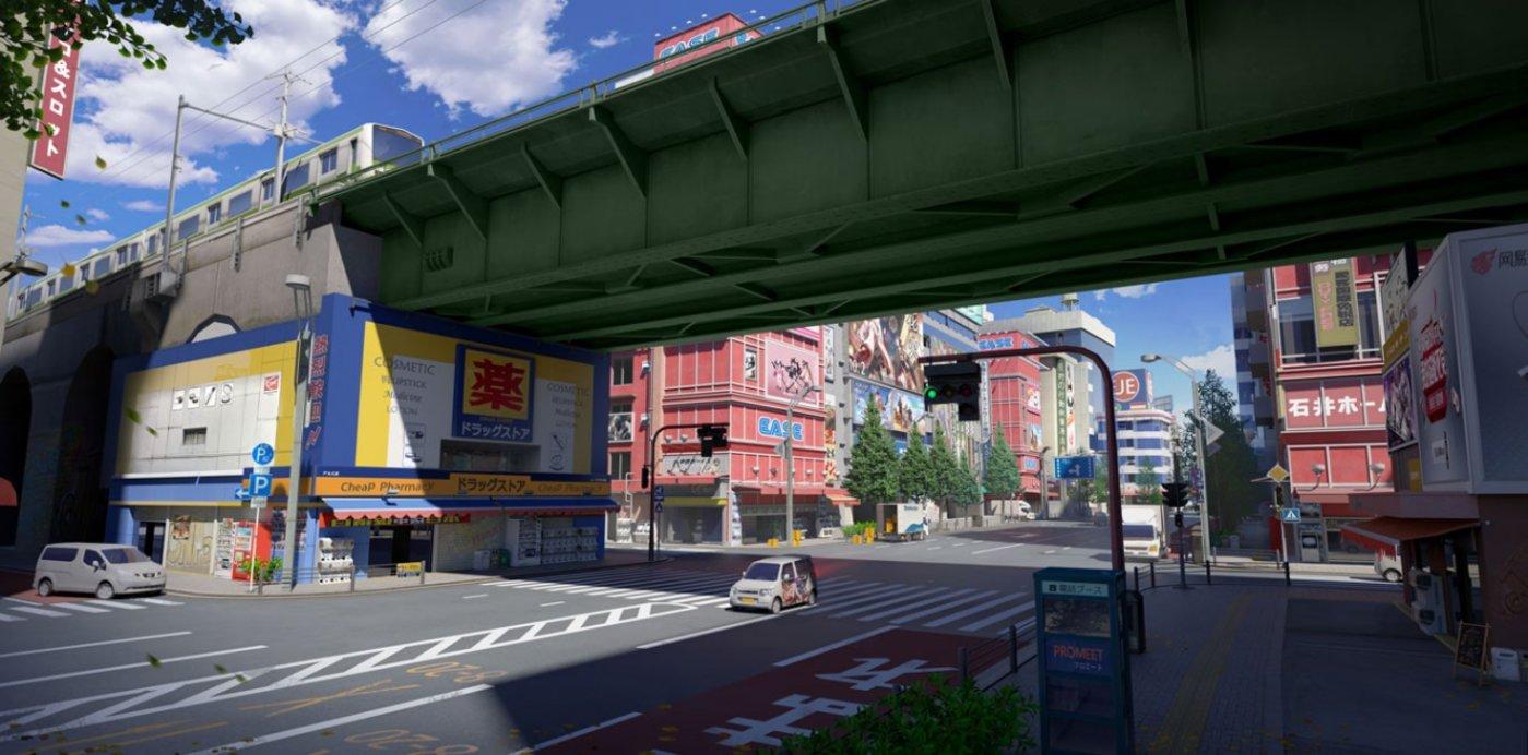 """""""东京决战""""地图的街景"""