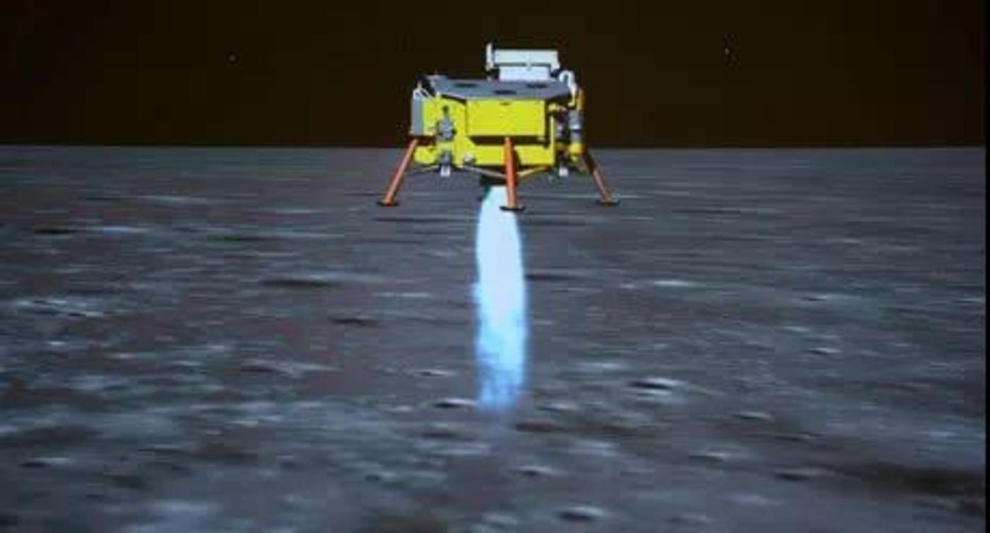 嫦娥四号动力下降示意图