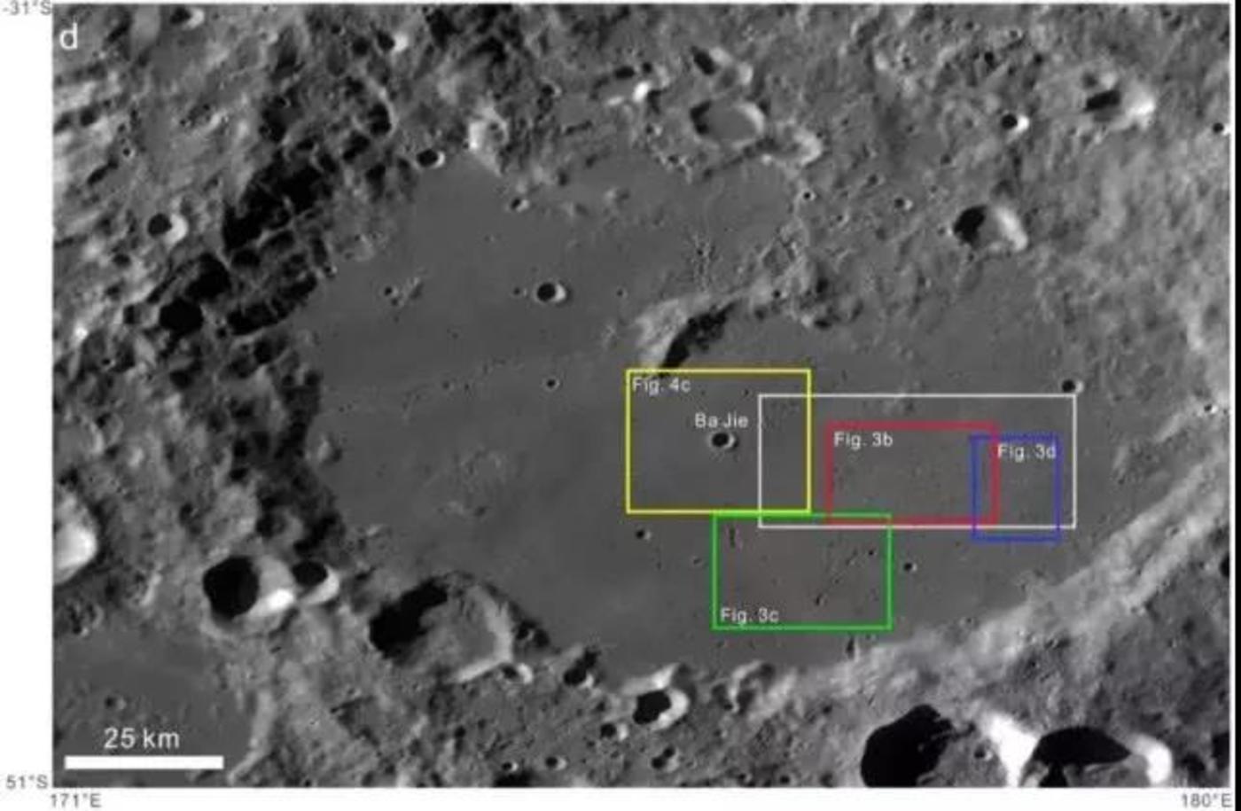 月球背面艾特肯盆地,该盆地直径大约2500公里,深13公里