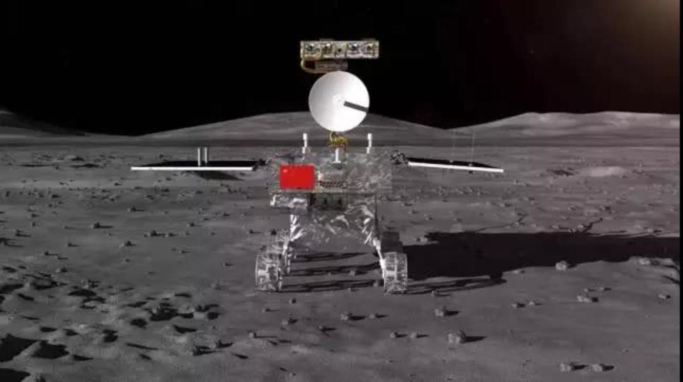 嫦娥四号月球巡视器示意图