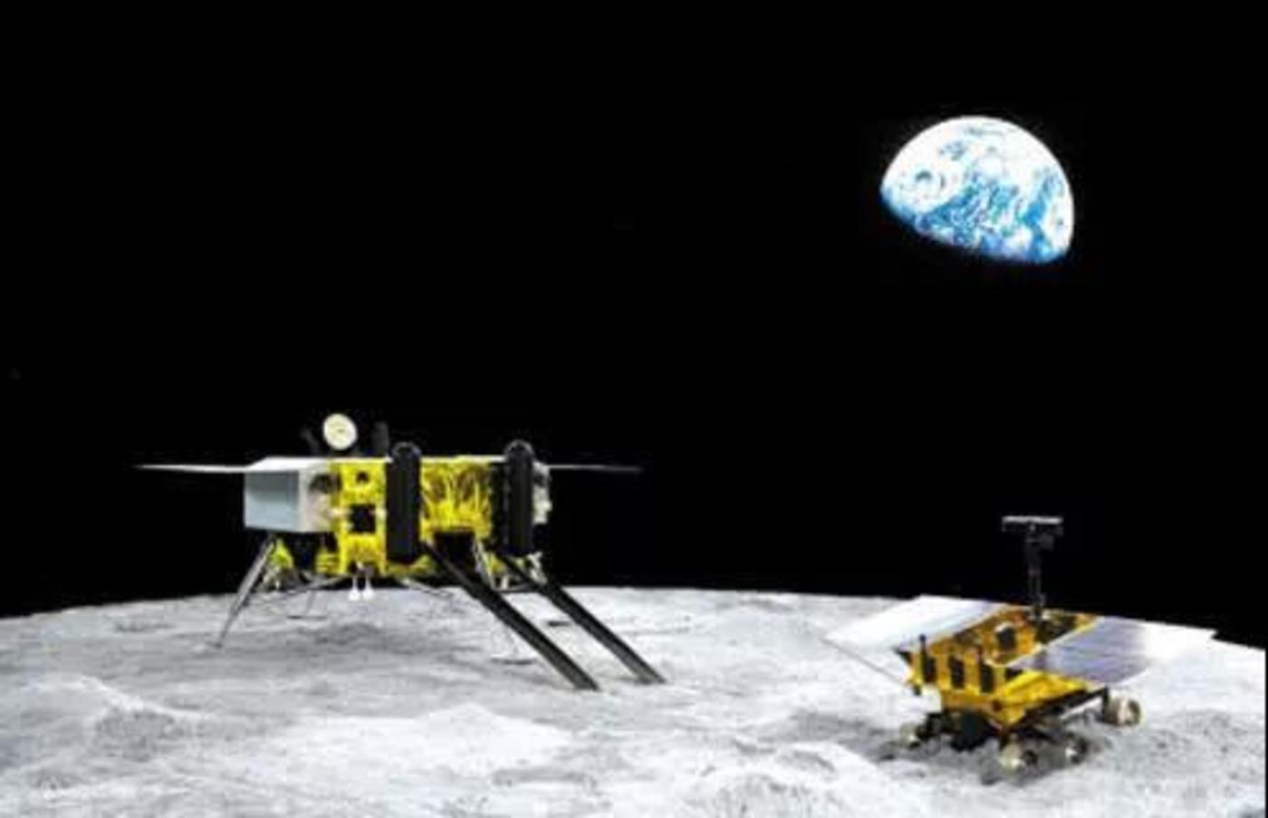 嫦娥三号着陆器与巡视器(玉兔号)