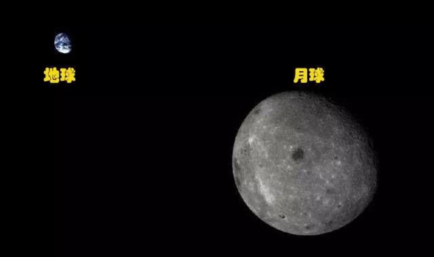 2014年发射的嫦娥五号T1试验器拍摄到的地-月同框