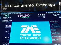 【钛晨报】腾讯音乐上市首日收盘价14美元,大涨7.69%