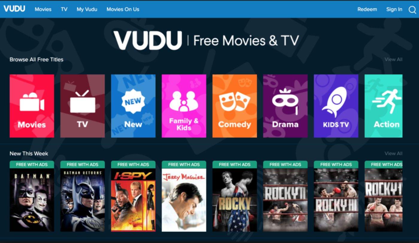 Vudu App 首页
