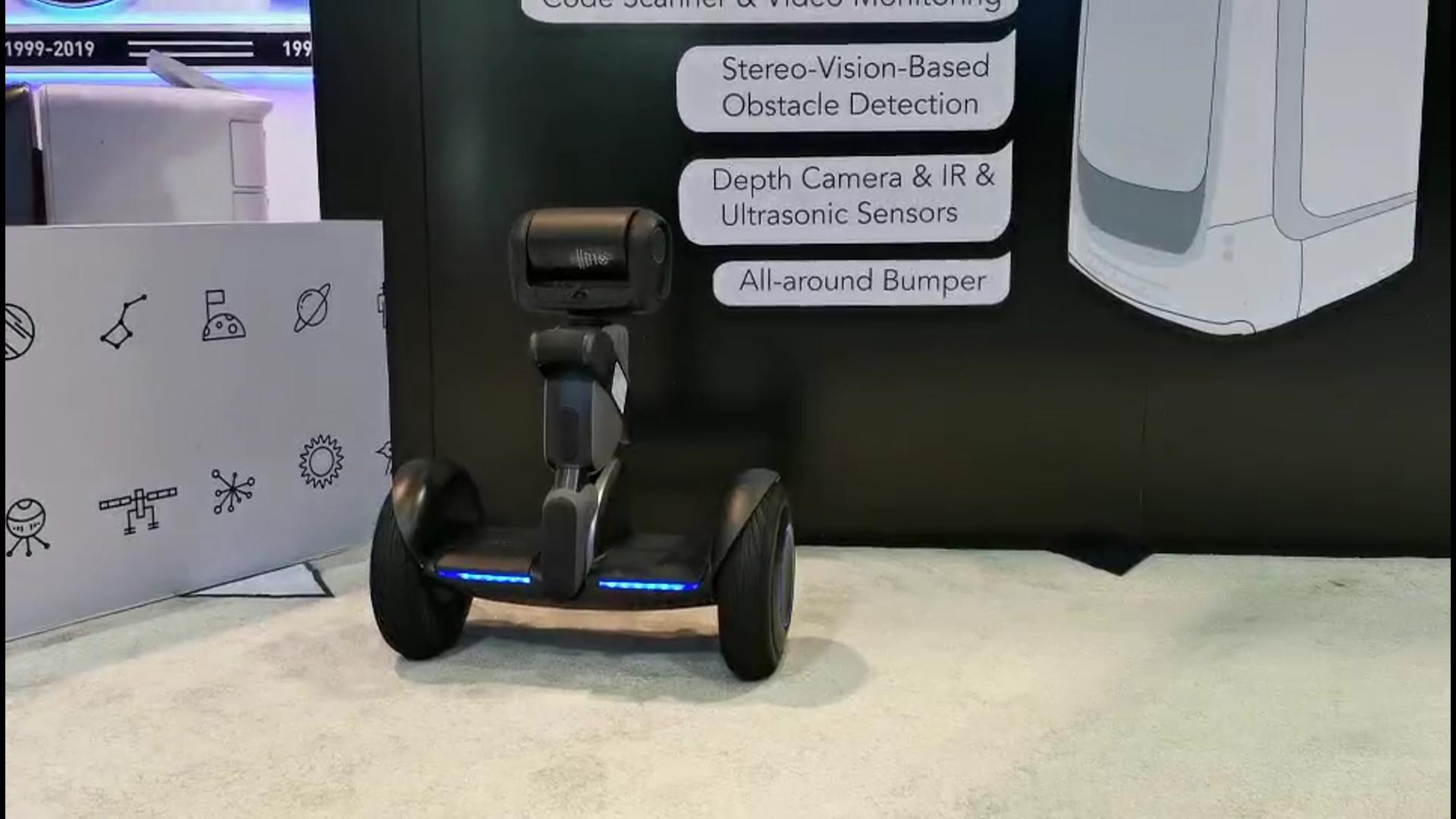 自己会看路的平衡车,Segway平衡车机器人 | CES2019