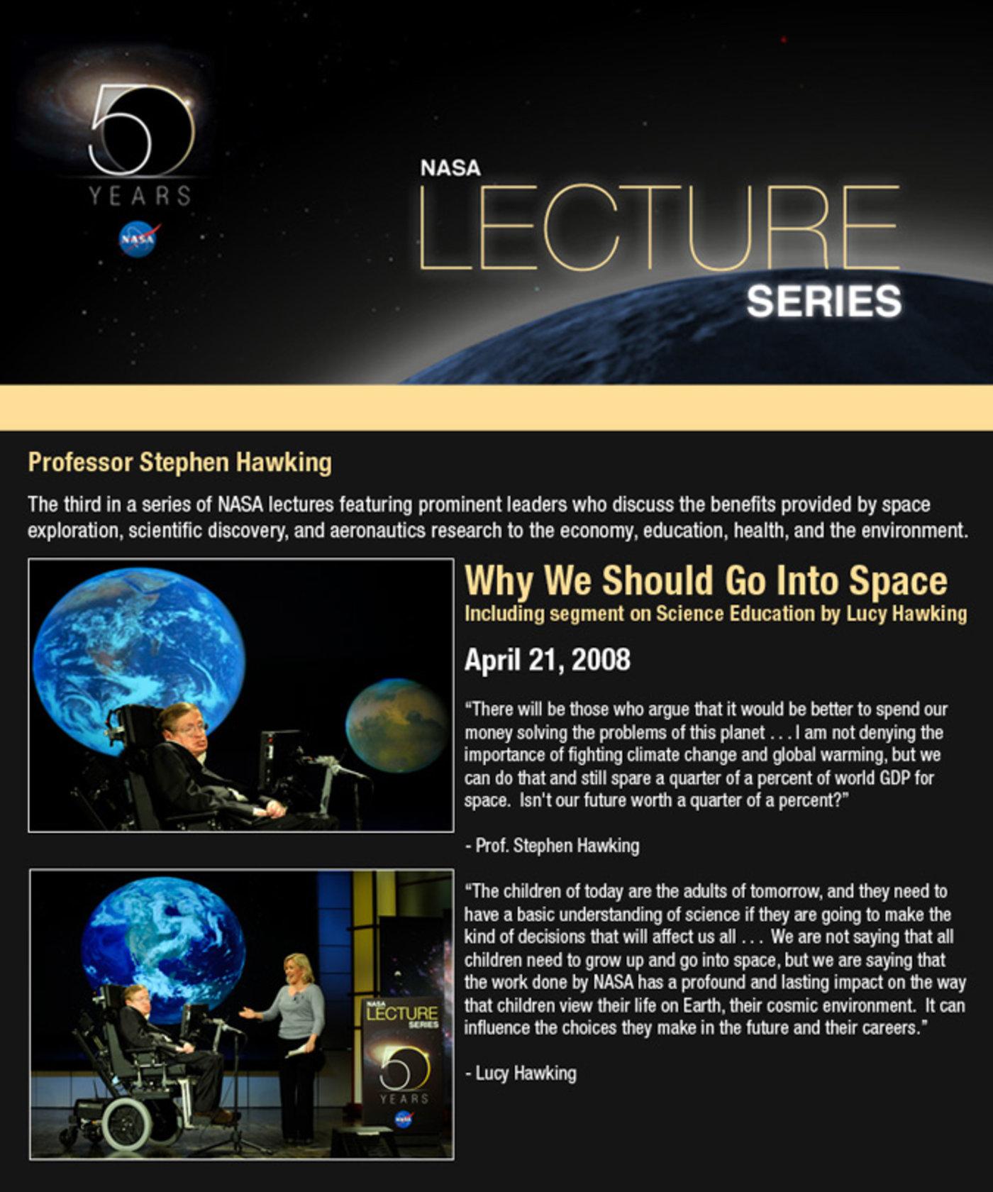 """在NASA 50周年系列演讲中,Lucy讲了讲""""儿童科学教育"""""""