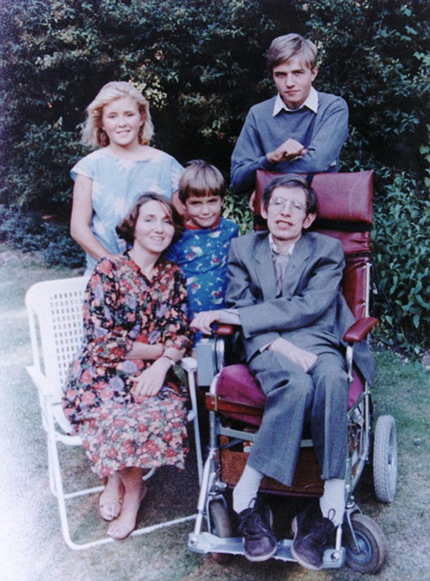 霍金与家人