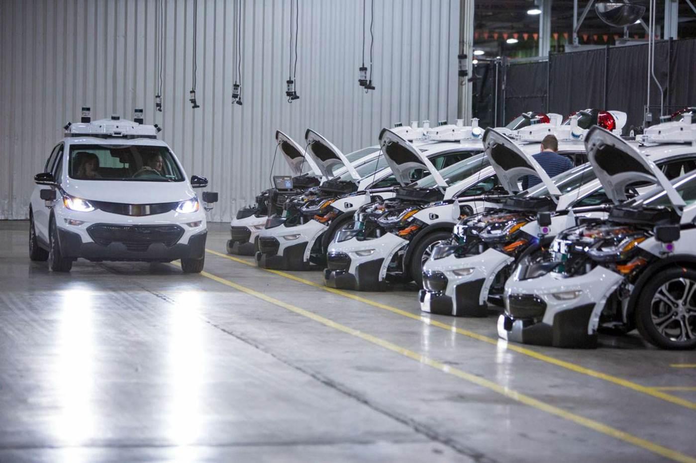 雪佛兰Bolt EV改装的自动驾驶车队