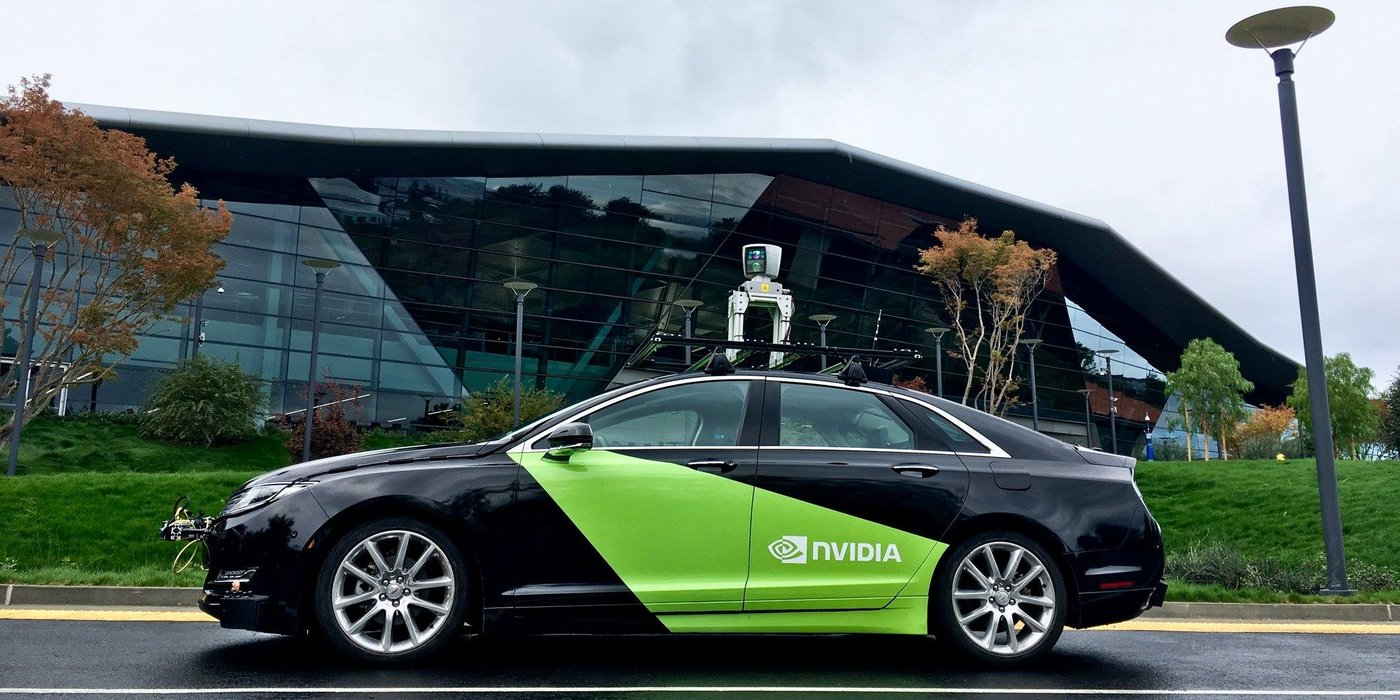 采用英伟达技术平台的自动驾驶测试车辆