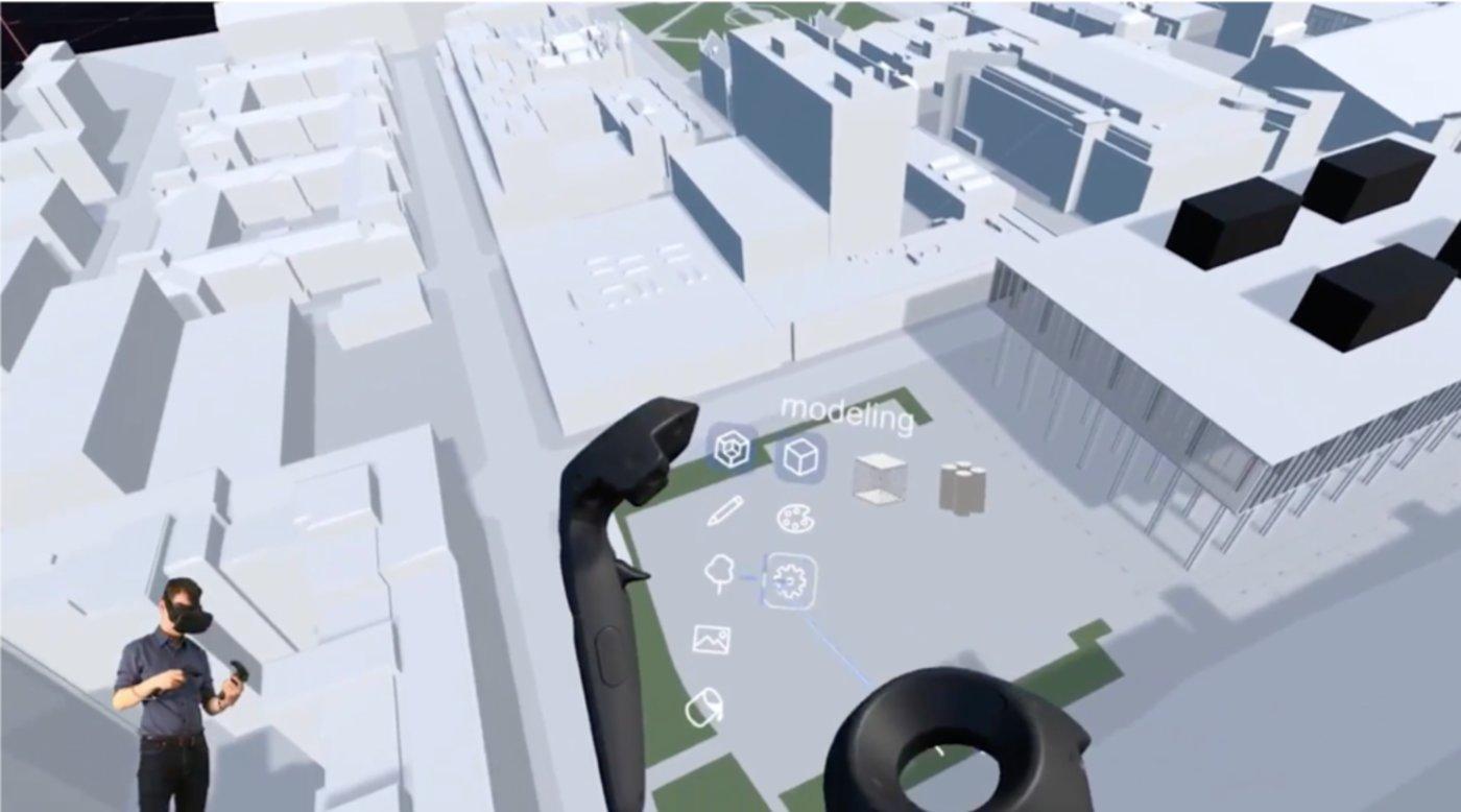 Mecanoo showcasing a VR application in architecture design (Source: Mecanoo)