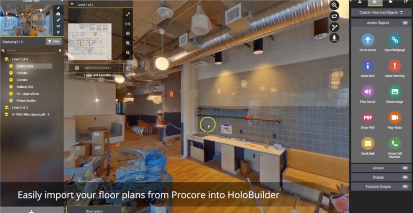 Demo of integrated Holobuilder & Procure platform (Source: Procore)