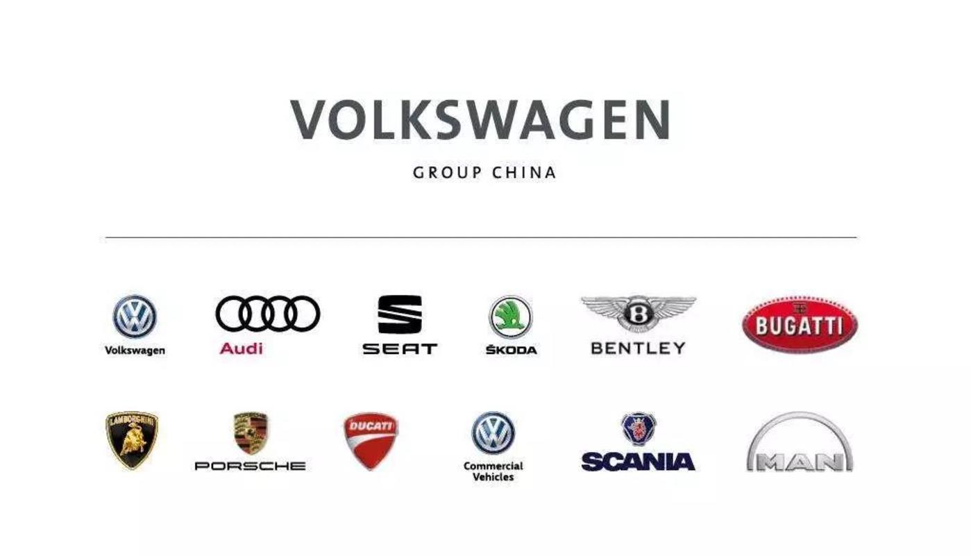 大众旗下的所有子品牌