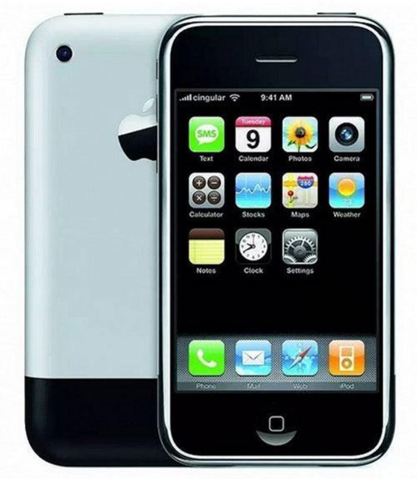 2007年,苹果公司第一部iPhone问世。