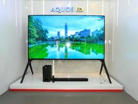 展示8K全产业链,夏普发布8K电视新品   直击AWE