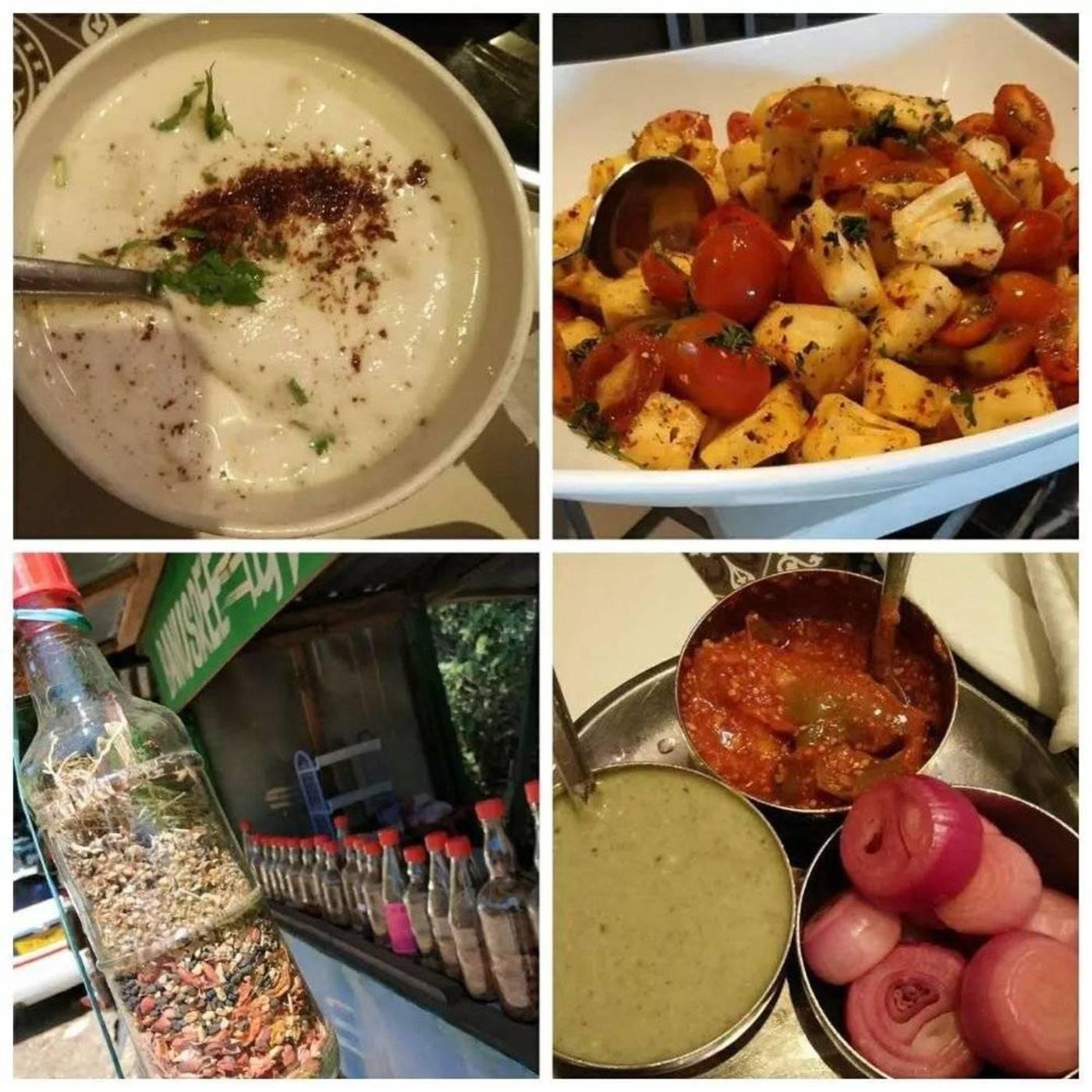 印度食物(酸奶,凉拌水果,香料,日常腌料配餐)