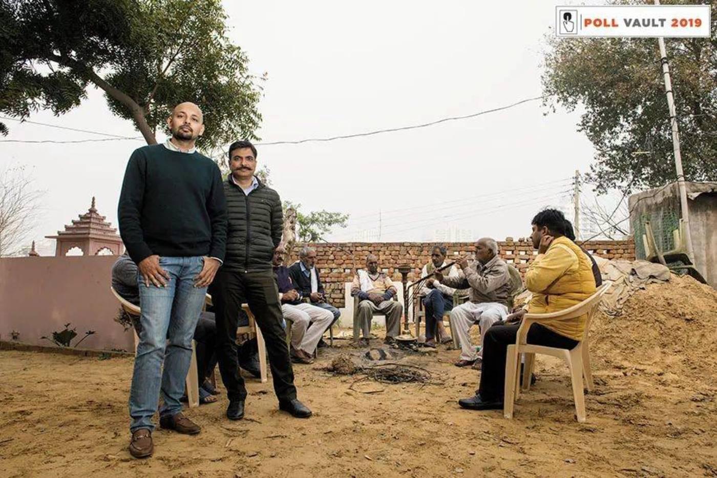 PoliticalEdge的联合创始人Gaurav Rathore(左)和Saurabh Vyas
