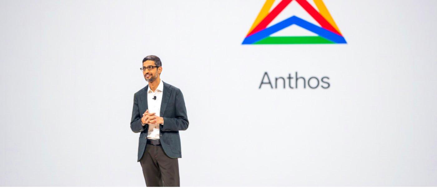 桑达尔与Anthos,图片来自谷歌云官方博客