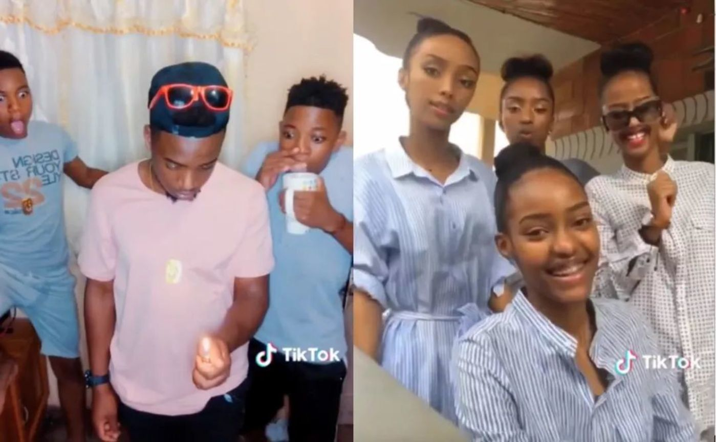 Young people using TikTok in South Africa