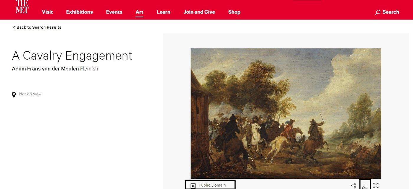 大都会博物馆可下载的、进入公共领域的图片