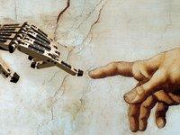 """软萌的""""银行机器人"""",背后是一个抠脚大汉在操控?"""