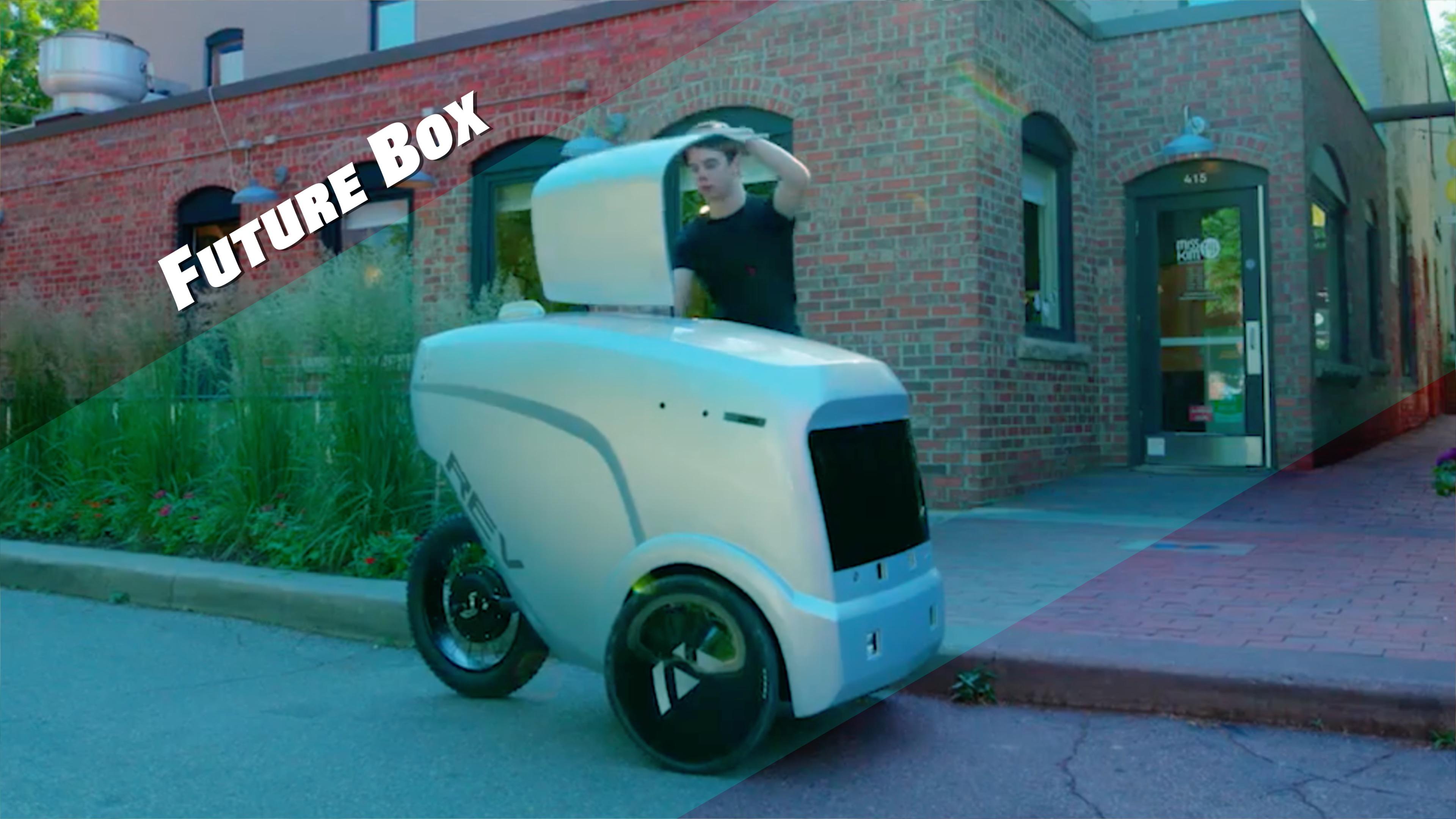 【钛媒体视频 Future Box】您的外卖即将送达!12只眼睛的送餐机器人上岗了