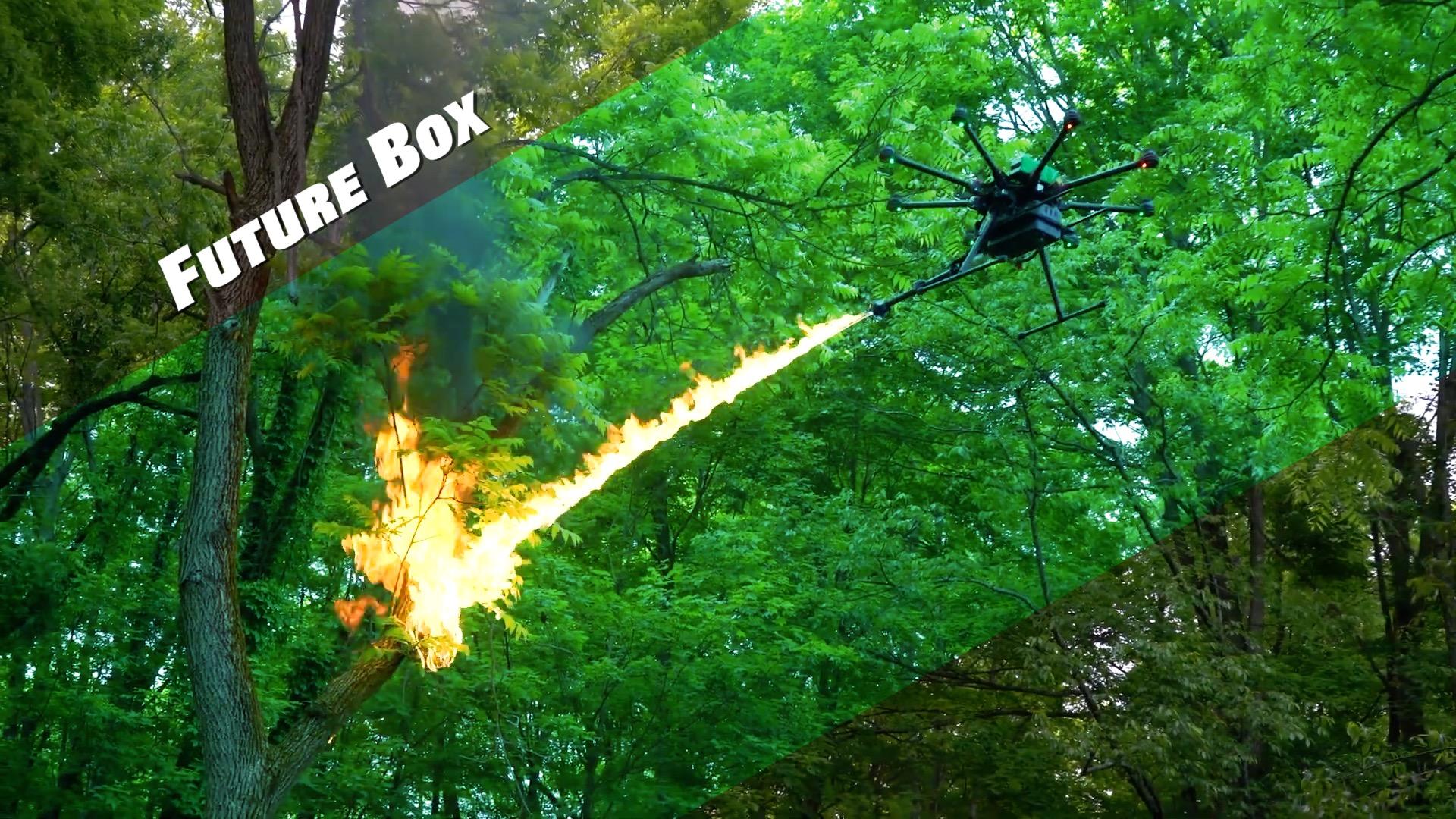【腾博会娱乐平台视频 Future Box】电力清障、灭马蜂窝,请派喷火无人机上场