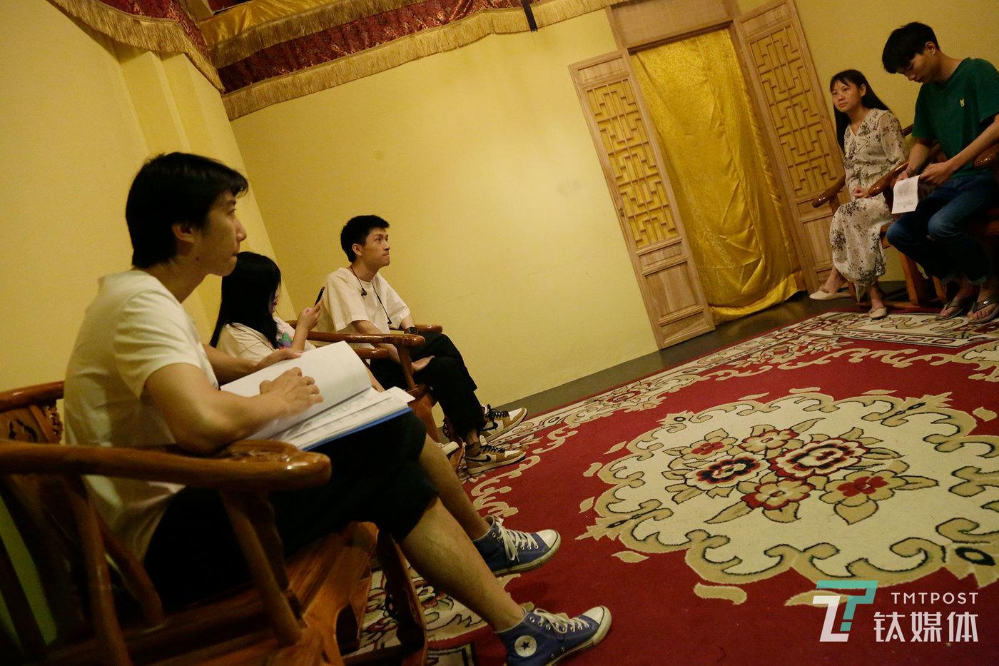 7月12日,实景演员招新面试中。