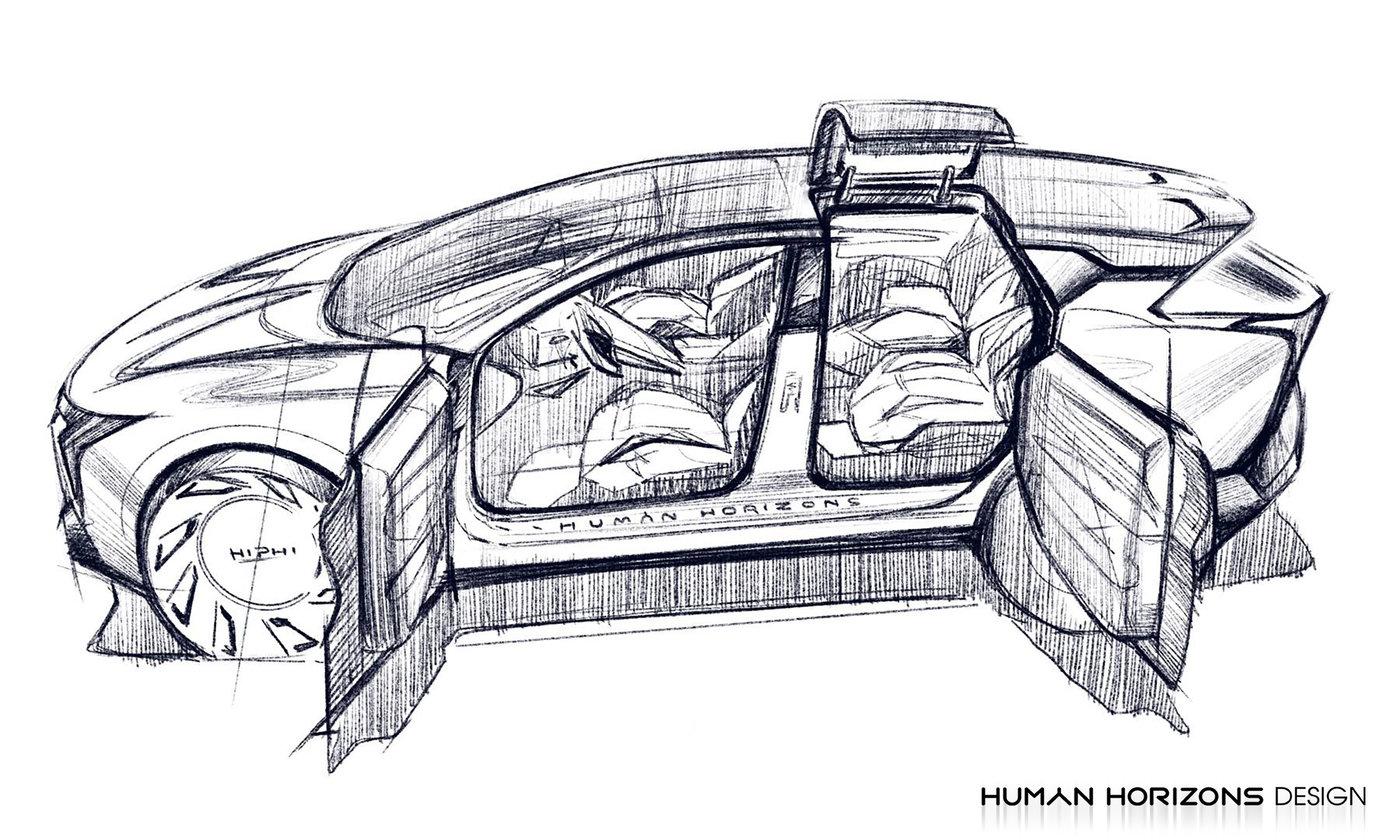 高合HiPhi 1设计图