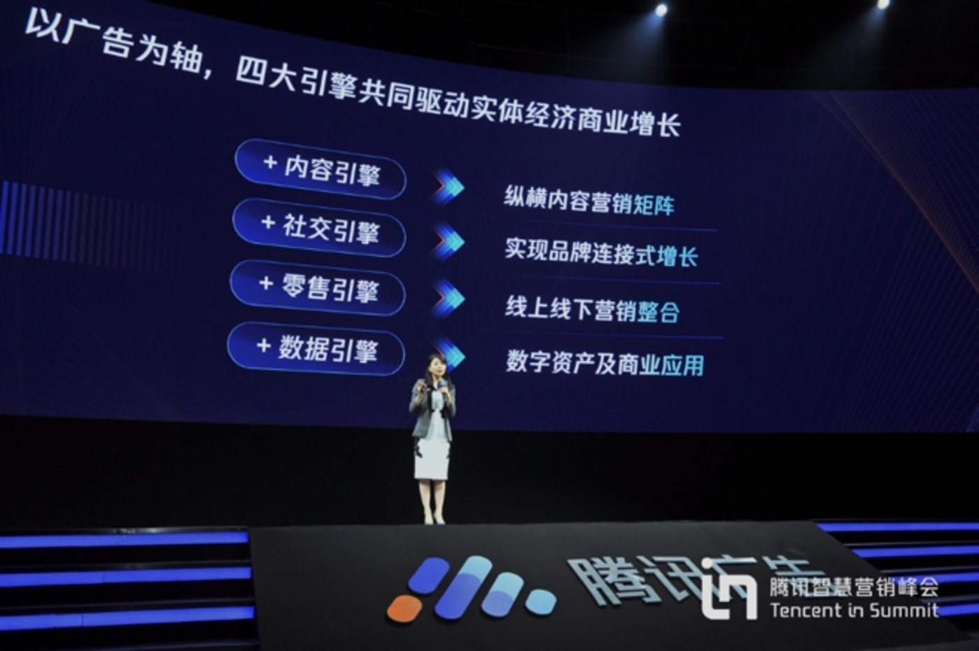 腾讯广告大客户出售运营总经理范奕瑾在现场分享