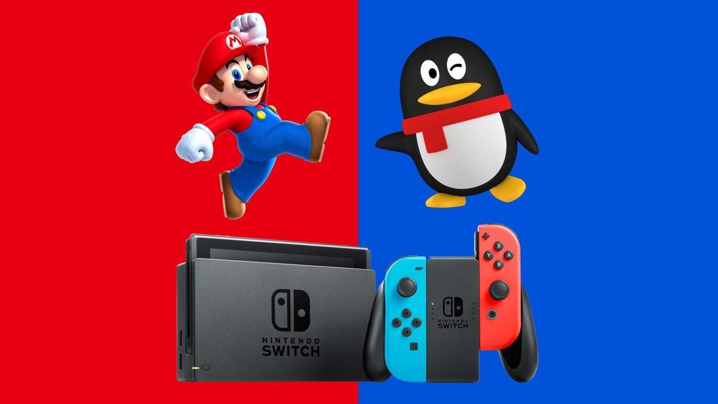 7月,腾讯Nintendo Switch官方微博、微信公多号正式上线,并宣布将行为任天国在中国国内的代理方,引进任天国最新的游玩平台Nintendo Switch。八月则公布了更多腾讯与任天国配相符细节,包括两边配相符把一些经典任天国游玩的本地化,以及异日上线简体中文版游玩等。