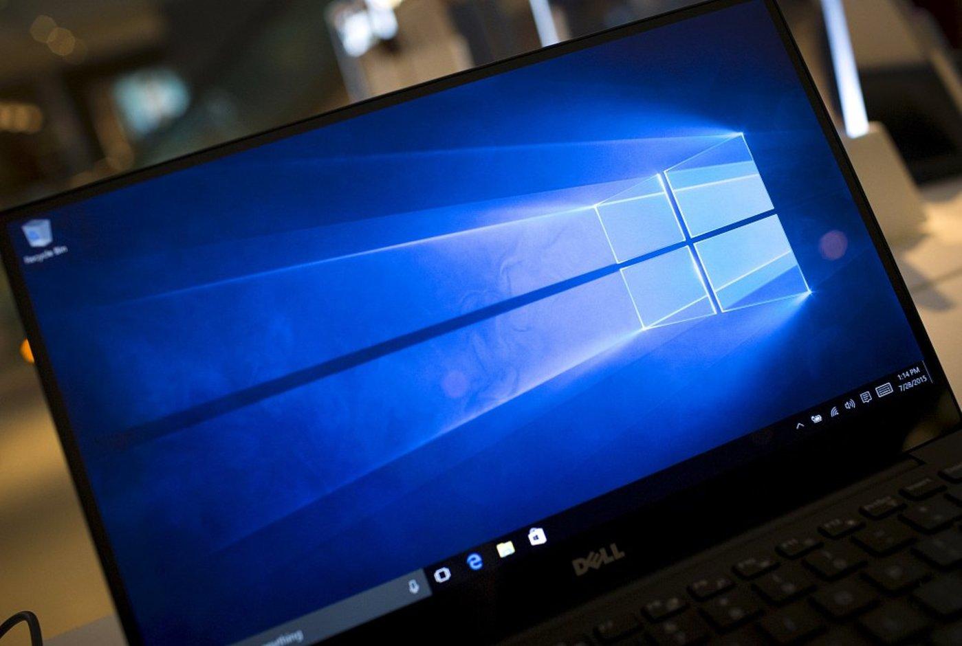 Windows 10操作系统,图片来源@视觉中国