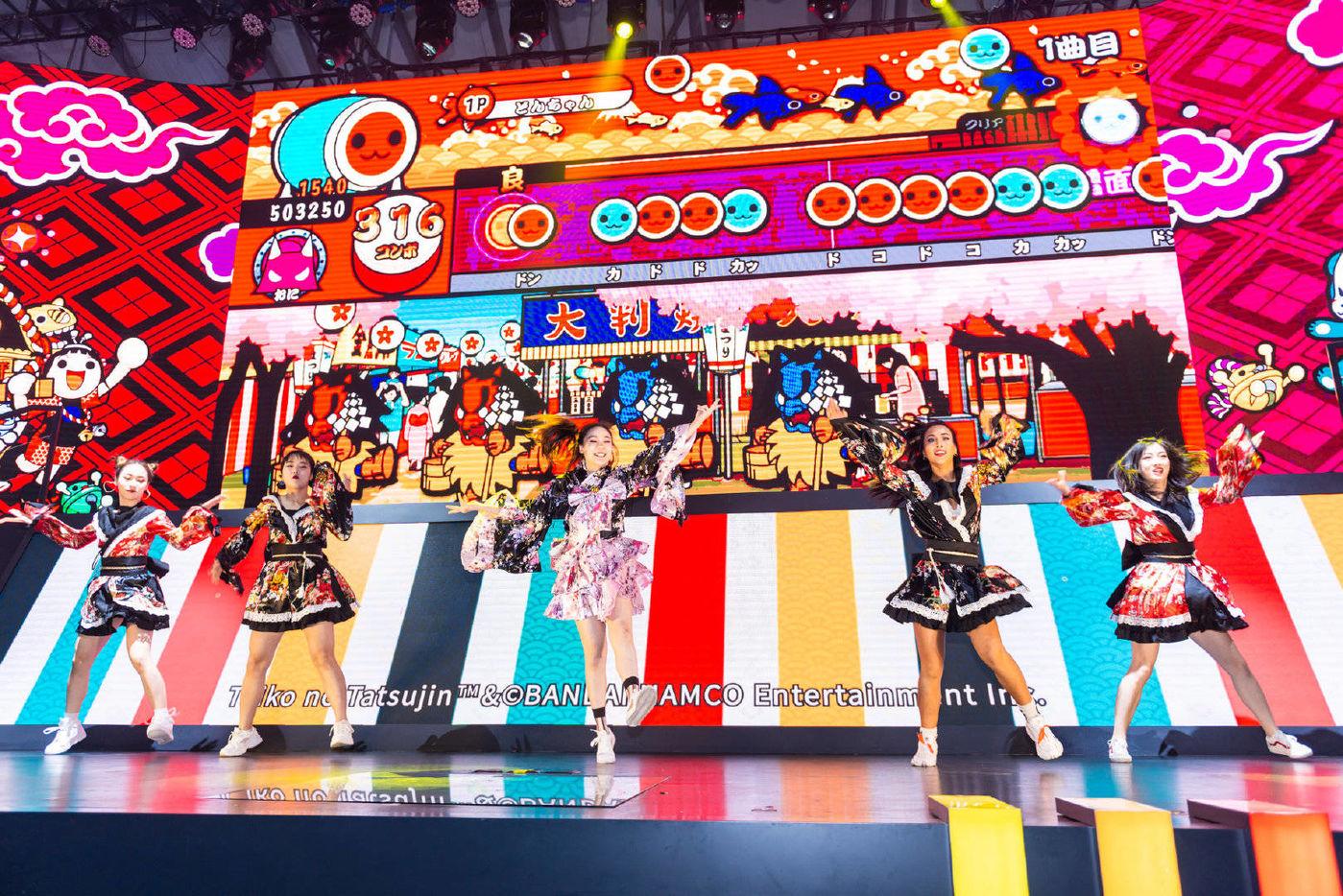 万代南梦宫在2019年China Joy的舞台,图片来源于万代南梦宫中国官方微博