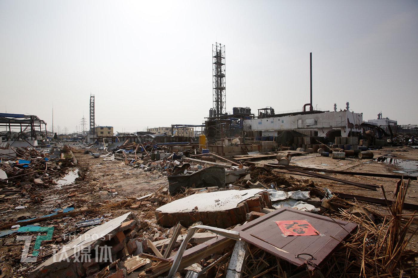 3月24日,江苏省盐城市响水县陈家港镇化工园区,爆炸发生后第三天。