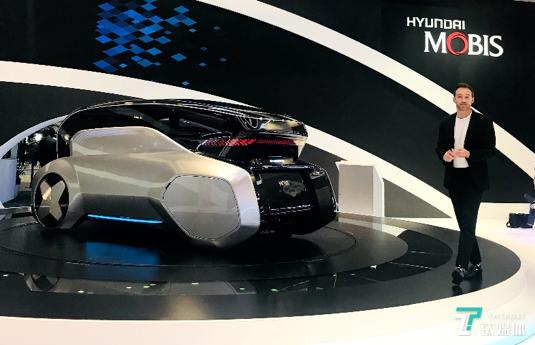 现代摩比斯展示城市共享无人驾驶概念车M.Vision S丨CES 2020