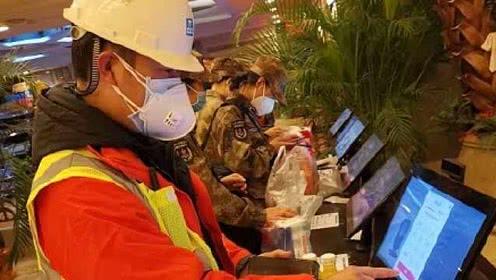 【视频】火神山无接触收银超市24小时内火速上线:保护一线医护