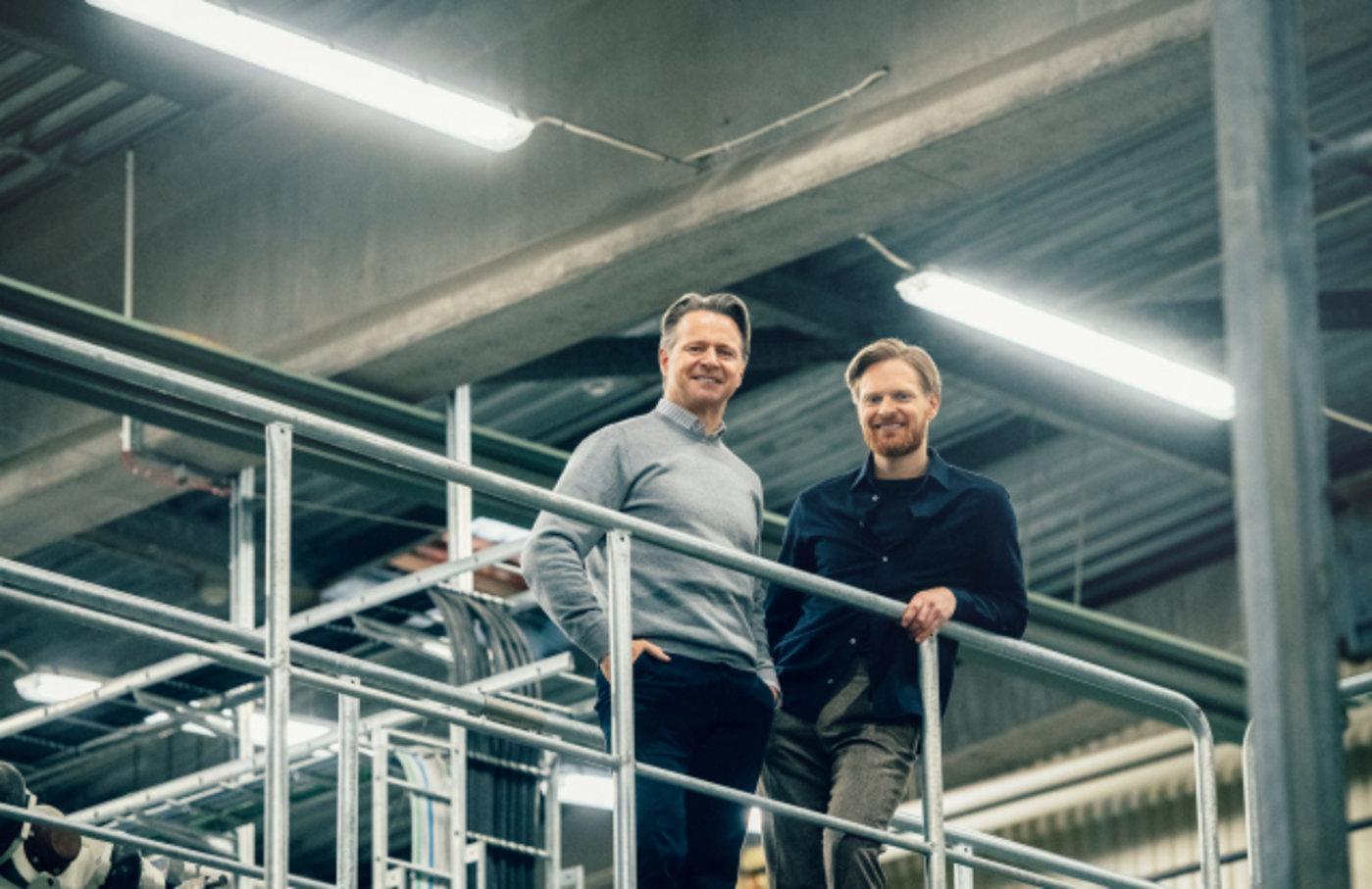 来自H&M 投资公司Co:Lab的Erik Karlsson和来自Re:newcell 的首席执行官Patrik Lundstrom
