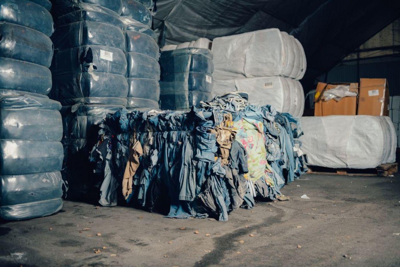 用于生产Circulose的旧棉质牛仔裤