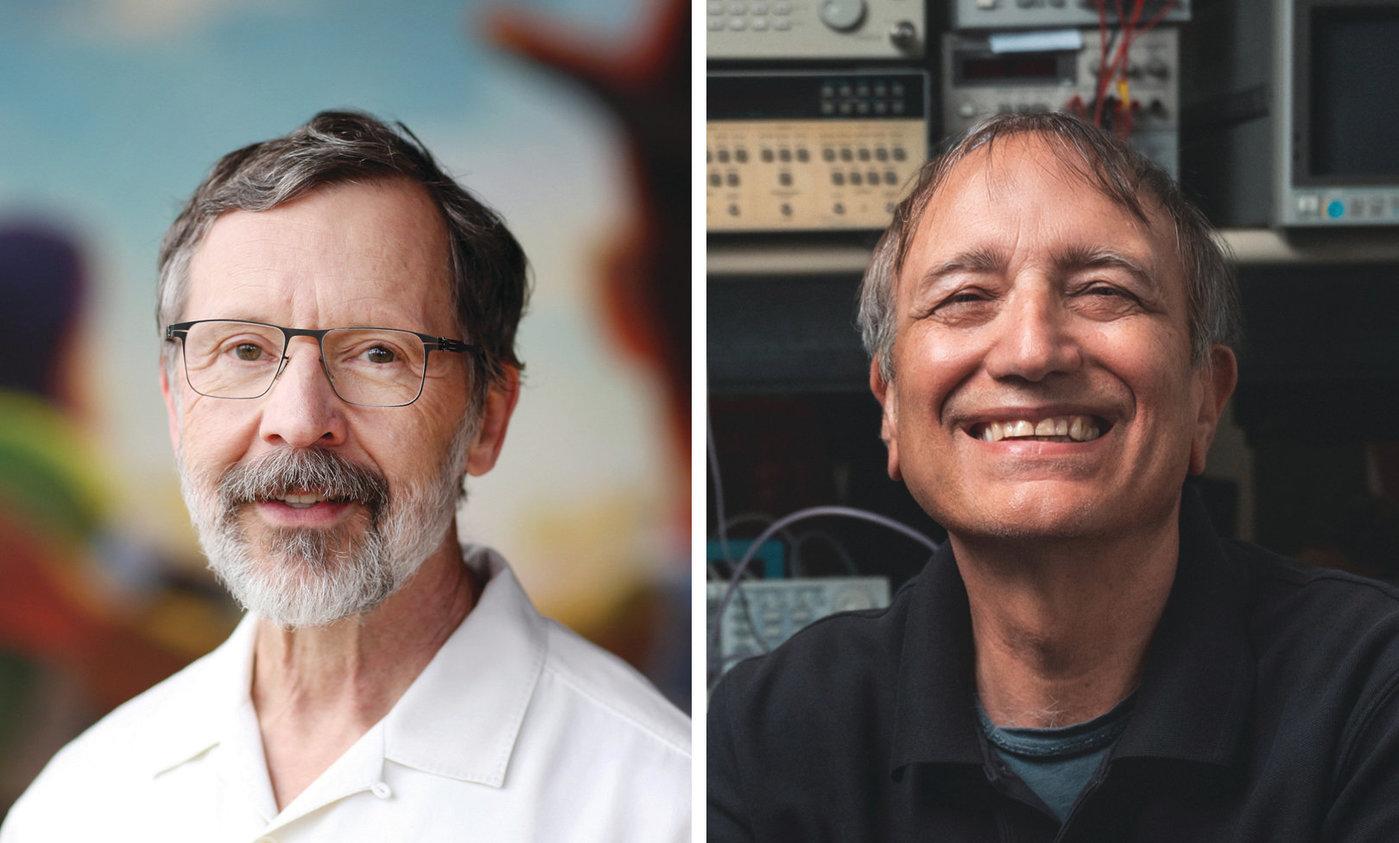 图灵奖获得者:帕特里克·汉拉汉(右)和艾德文·卡特姆(左)