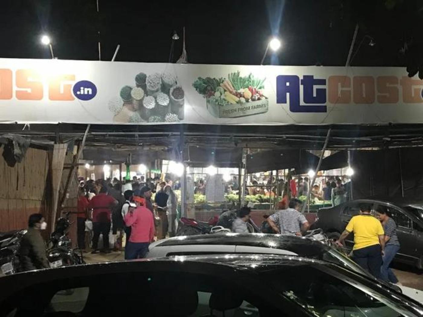 古尔冈地区的一家超市,余磊拍摄于3月24日8点55分