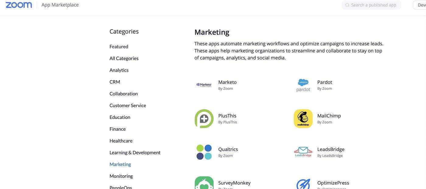 Zoom正在试图打造一个应用市场