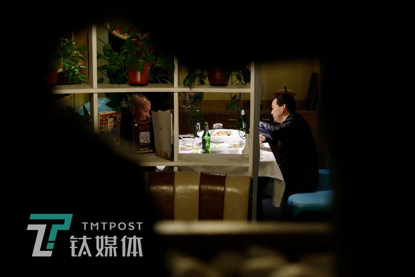 4月2日18:52,北京,在湘悦楼堂食的顾客。