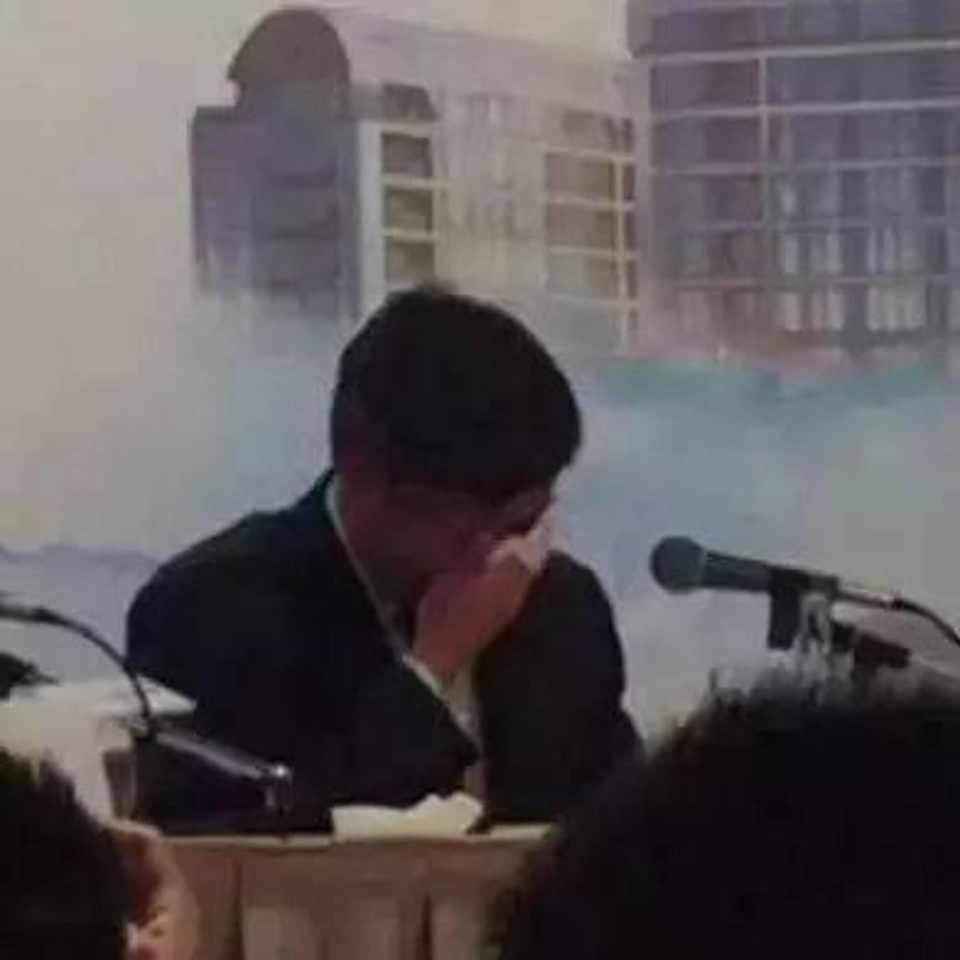 孙宏斌谈到笑视时落泪(图片来自网络)