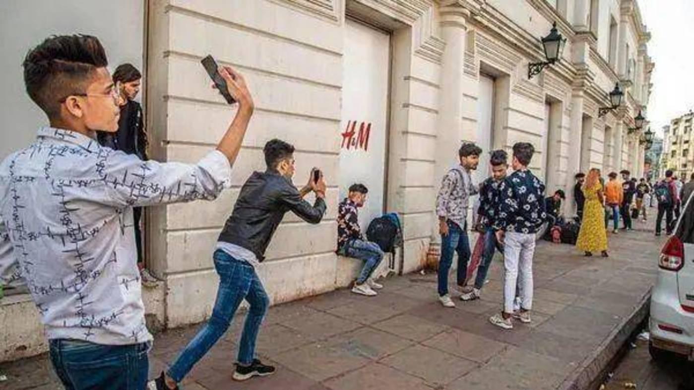 印度的TikTok网红街,图片来源:Livemint