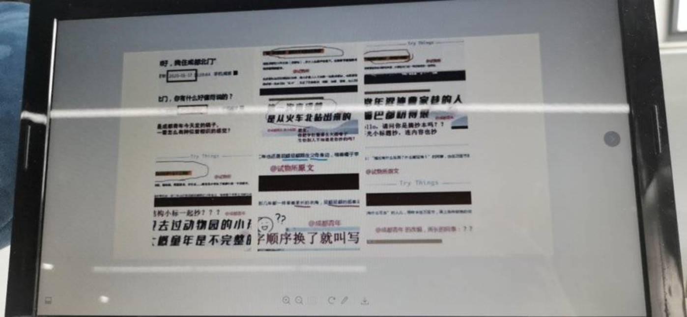 """(刘看看做过证据收集,名为""""成都青x""""的大号几乎跟随式的洗稿)"""