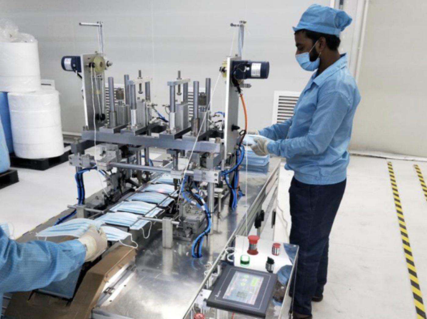 图:OPPO工厂开始生产口罩,来源:OPPO