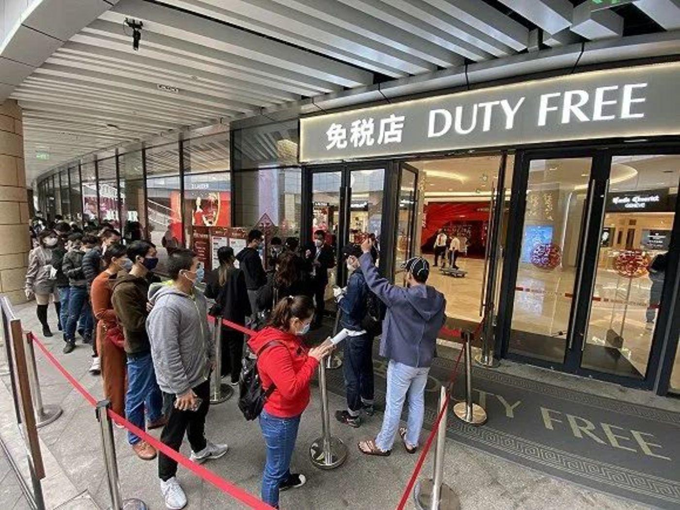 海南海口日月广场免税店 图片来源:视觉中国