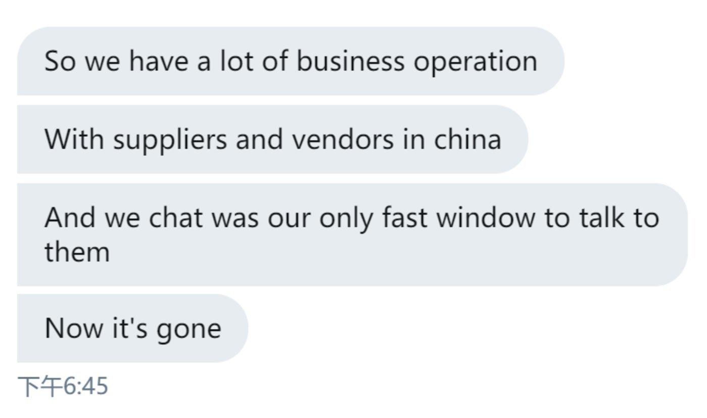 """Vivek说道:""""微信曾是唯一快速的、和中国人交谈的方式""""/Twitter"""